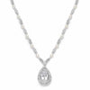 Victorian Bridal Necklace with Pearls & Cubic Zirconia Teardrop-Necklaces-Here Comes The Bling™
