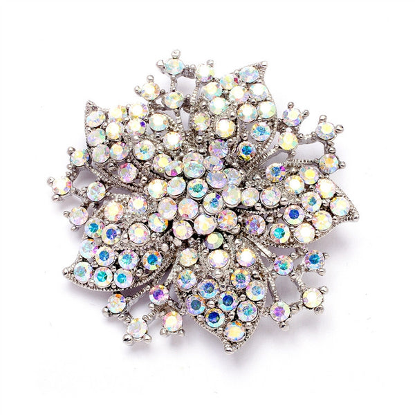 Vintage AB Jeweled Wedding or Prom Pin-Brooches-Here Comes The Bling™