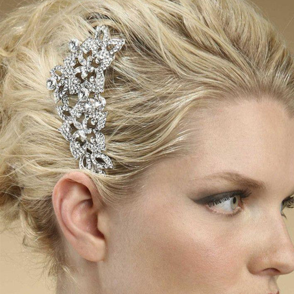 Vintage Crystal Bridal Comb-Combs-Here Comes The Bling™