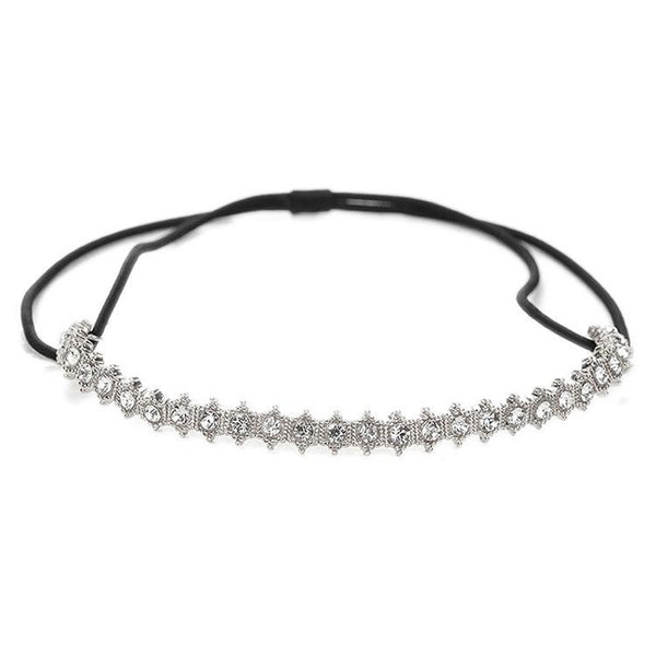Vintage Crystal Stretch Headband for Weddings and Proms-Headband-Here Comes The Bling™