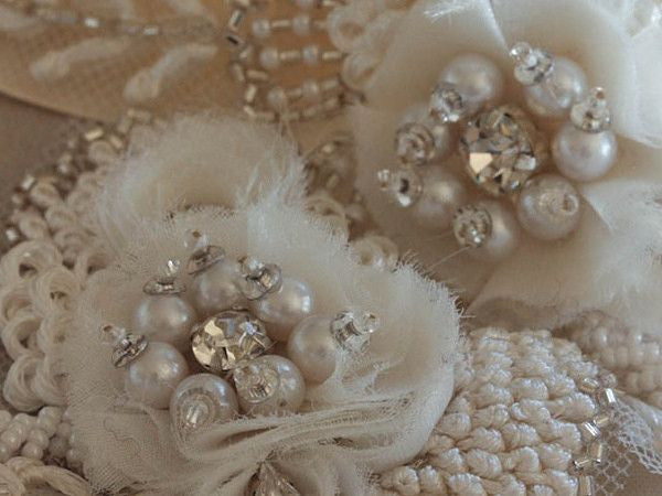 Vintage Flower Sash by MillieIcaro-Sash-Here Comes The Bling™