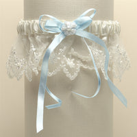 Vintage Irish Lace Inspired Wedding Garter (in 4 colors)-Garters-Here Comes The Bling™