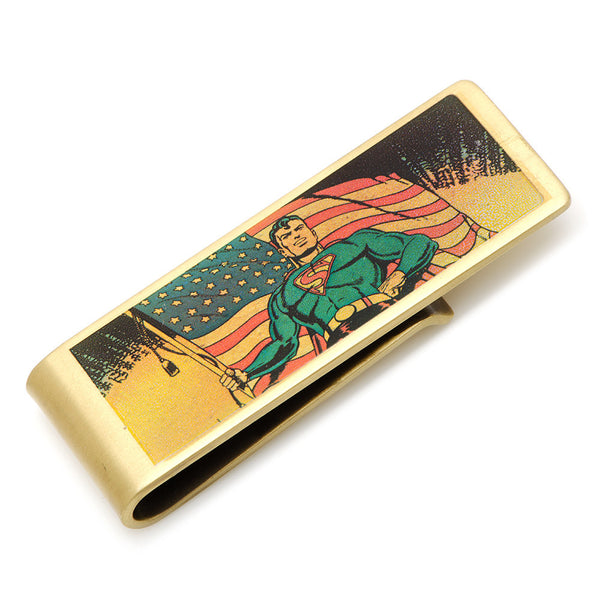 Vintage Patriotic Superman Money Clip-Money Clip-Here Comes The Bling™