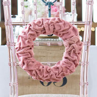 Vintage Pink Ruffled Burlap Wreath-Decor-Hanging-Here Comes The Bling™
