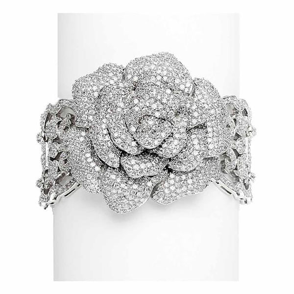 Vintage Rose Heirloom Pavé CZ Bracelet-Bracelets-Here Comes The Bling™