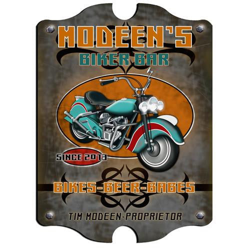 Vintage Series Personalized Signs - BIKER-Sign-Here Comes The Bling™