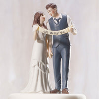 """Vintage Style"" Wedding Couple Cake Topper ( Select From 7 Hair Colors )-Cake Toppers-Here Comes The Bling™"