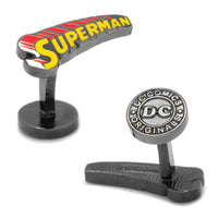 Vintage Superman Comic Book Cover Logo Cufflinks-Cufflinks-Here Comes The Bling™