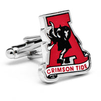 Vintage University of Alabama Crimson Tide Cufflinks-Cufflinks-Here Comes The Bling™