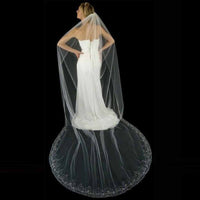 Couture Hand Beaded Cathedral Bridal Veil
