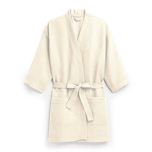 Waffle Spa Robe in Dark Ivory-Robes-Here Comes The Bling™