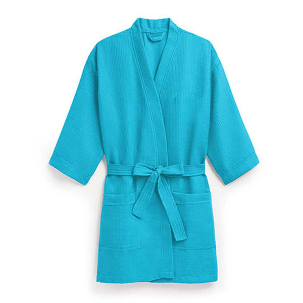 Waffle Spa Robe in Turquoise-Robes-Here Comes The Bling™