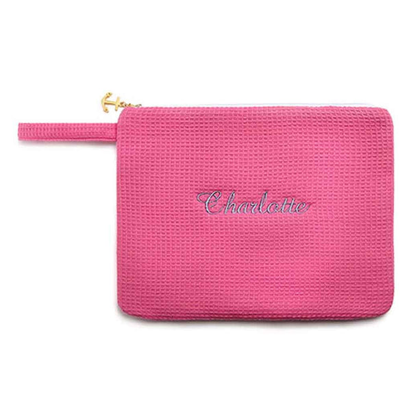 Waffle Wet Bikini Bag in Fuchsia-Pouch-Here Comes The Bling™