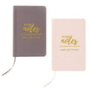 """Wedding Notes"" Gold Embossed Linen Journal-Journals-Here Comes The Bling™"