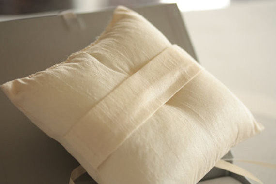 Wedding Ring Pillow - Ash Ivory by MillieIcaro-Ring Pillow-Here Comes The Bling™