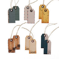 """Well Traveled"" Vintage Paper Shipping Tags with Twine Ties (Pack of 12)-Favors-Tags-Here Comes The Bling™"