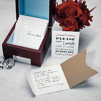 """Well Wishing"" Stationery Set Pack of 50-Stationery-Wish Cards-Here Comes The Bling™"