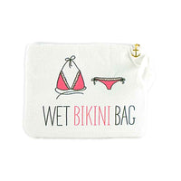 """Wet Bikini"" Bag in White-Pouch-Here Comes The Bling™"