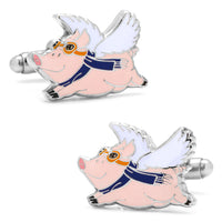 When Pigs Fly Cufflinks-Cufflinks-Here Comes The Bling‰̣ۡå¢