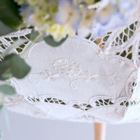 White Battenburg Lace Parasol - Standard-Parasol-Here Comes The Bling™