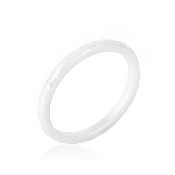 White Ceramic Band Ring-Rings-Here Comes The Bling™