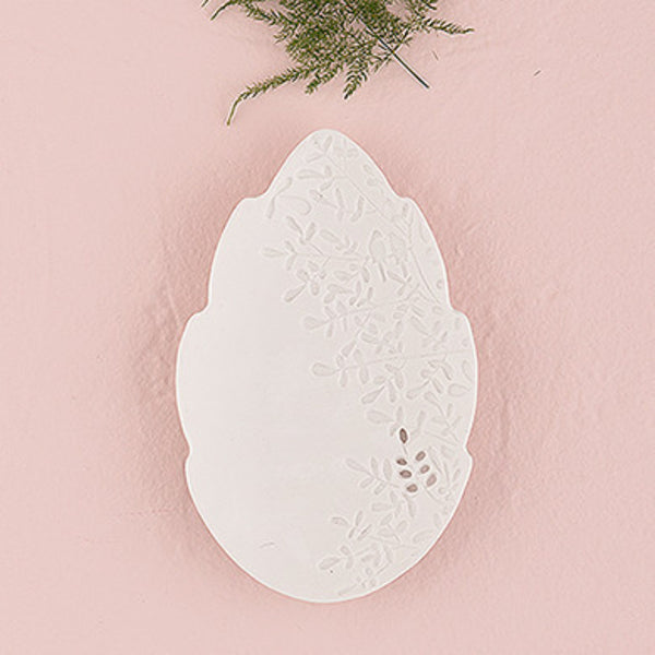 White Porcelain Leaf Ring Plate