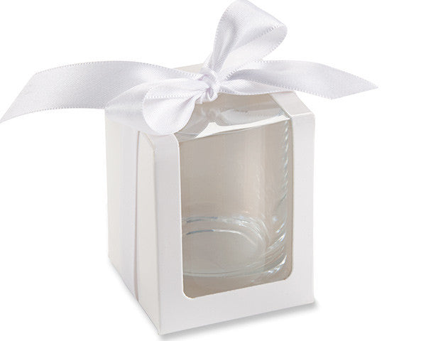 White Shot Glass/Votive Holder Gift Box (Set of 12)-Favors-Boxes-Here Comes The Bling™