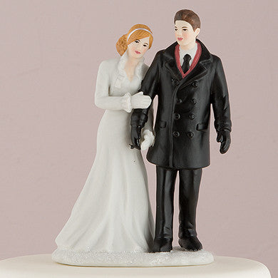 """Winter Wonderland"" Cake Topper ( Select From 7 Hair Colors )-Cake Toppers-Here Comes The Bling™"