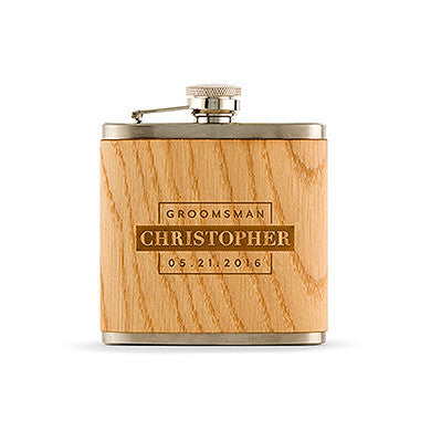 Wood Wrapped Hip Flask -Flask-Here Comes The Bling™