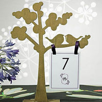 "Wooden Die-cut Trees with ""Love Birds"" Silhouette-Shop More Wedding Themes-Here Comes The Bling™"