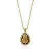 Yellow Cubic Zirconia Teardrop Pendant-Necklaces-Here Comes The Bling