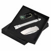 Flashlight, Lock-back Knife, Compass Key Chain Gift-Set