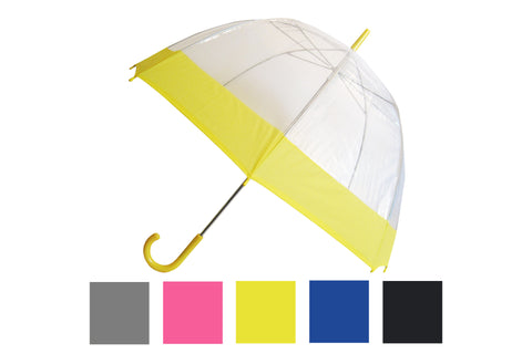 Wholesale Dome with Colored Trim Umbrella (6 pcs. pack) - $6.65/piece - WholesaleUmbrellas.com