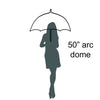Wholesale Dome with Colored Trim Umbrella (6 pcs. pack) - $6.65/piece