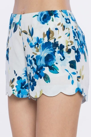 Floral Printed Woven Shorts - Affordable Urban Women's Fashion Boutique|StyleGirl  - 1