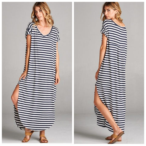 Lolly Striped Maxi Dress