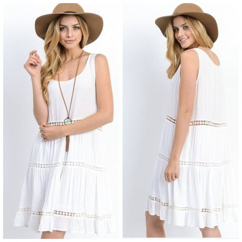 Sleeveless Tank Swing Dress