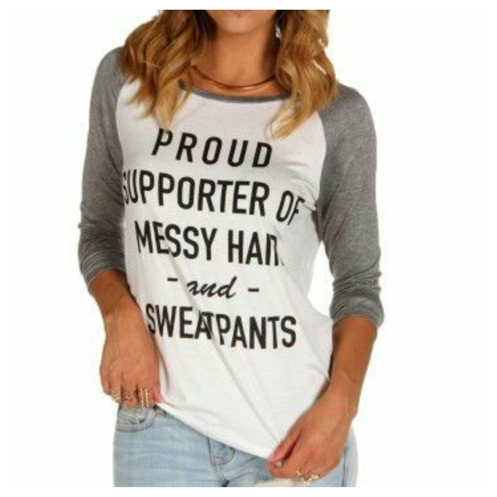 Proud Supporter Baseball Tee - Affordable Urban Women's Fashion Boutique|StyleGirl