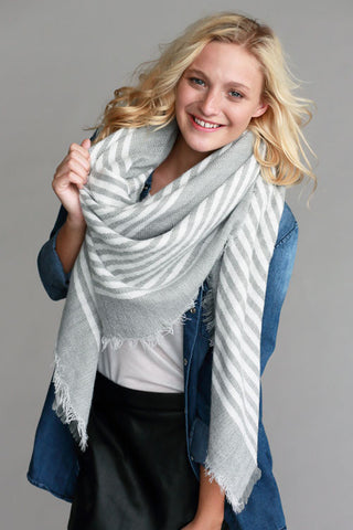 Gray Dream Blanket Scarf - Affordable Urban Women's Fashion Boutique|StyleGirl  - 1