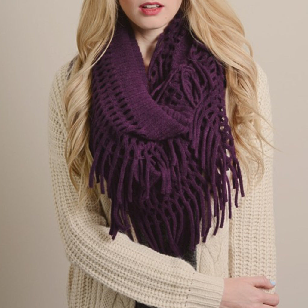 Perfect Fringe Infinity Scarf - Affordable Urban Women's Fashion Boutique|StyleGirl