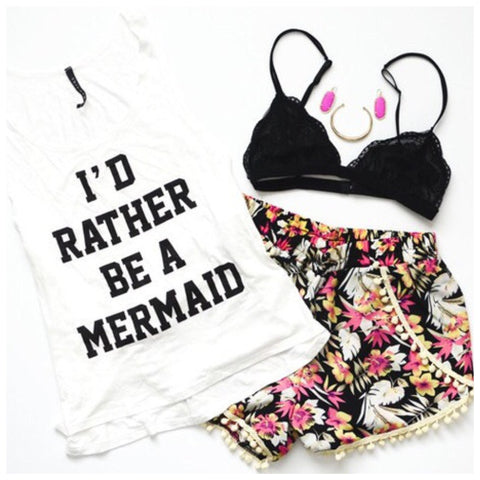 I'd Rather Be a Mermaid Tank - Affordable Urban Women's Fashion Boutique|StyleGirl  - 1
