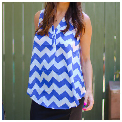 Tia Chevron Blouse - Affordable Urban Women's Fashion Boutique|StyleGirl  - 1