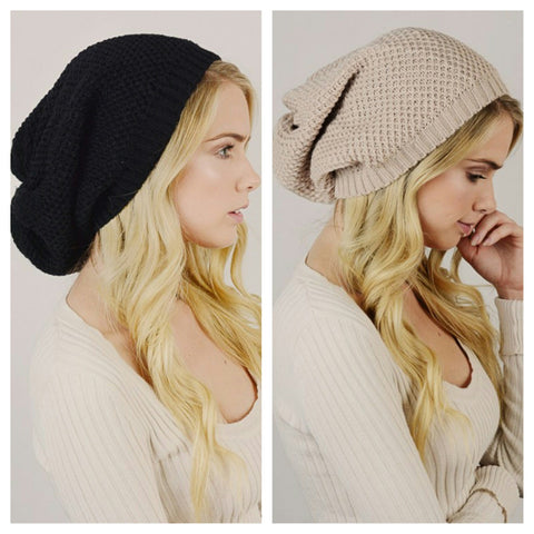 Slouchy Knit Beanie - Affordable Urban Women's Fashion Boutique|StyleGirl  - 1
