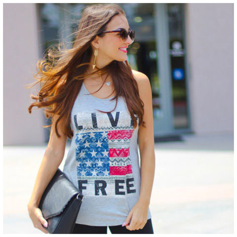Live Free Tank - Affordable Urban Women's Fashion Boutique|StyleGirl  - 1