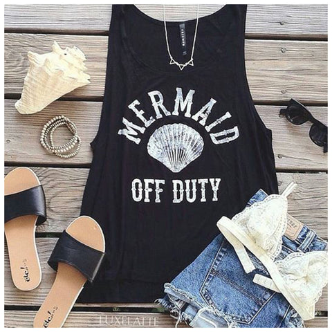 Mermaid Off Duty Tank - Affordable Urban Women's Fashion Boutique|StyleGirl  - 1