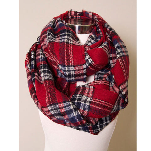 Plaid Infinity Scarf - Affordable Urban Women's Fashion Boutique|StyleGirl  - 1