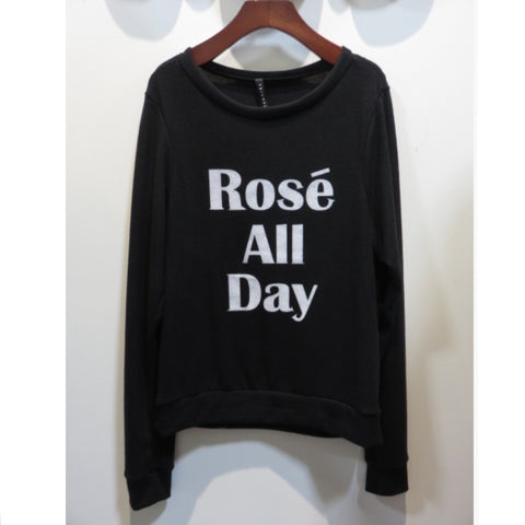 Rose All Day French Terry Sweatshirt - Affordable Urban Women's Fashion Boutique|StyleGirl  - 1