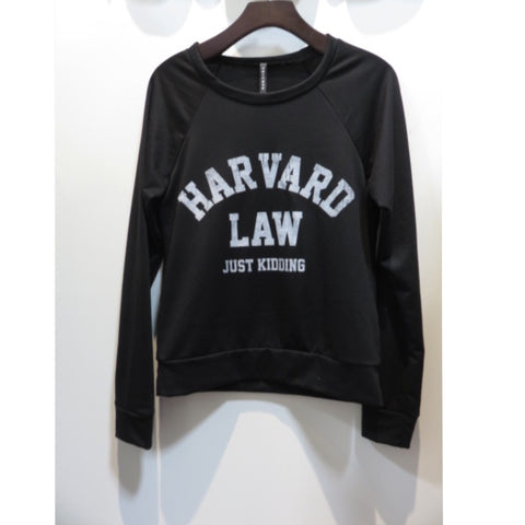 Harvard Law French Terry Sweatshirt - Affordable Urban Women's Fashion Boutique|StyleGirl  - 1