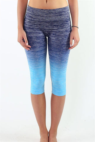 Ombré Yoga Crop Leggings - Affordable Urban Women's Fashion Boutique|StyleGirl  - 1