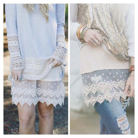 Lace Slip Extender - Affordable Urban Women's Fashion Boutique|StyleGirl  - 1
